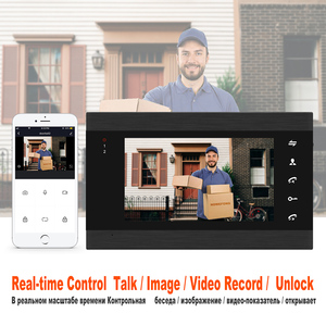 Image 3 - HomeFong 7 Inch Wifi Video Intercom Smart Video Door Phone System Wide Angle Door Camere Motion Detect RealTime Control by Phone