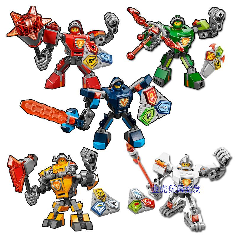 New Nexus Knights 10587 Macy Aaron AXL Lance Clay 70364 70365 70363 Building Blocks Set Compatible Legoinglys Kids Bricks Toys