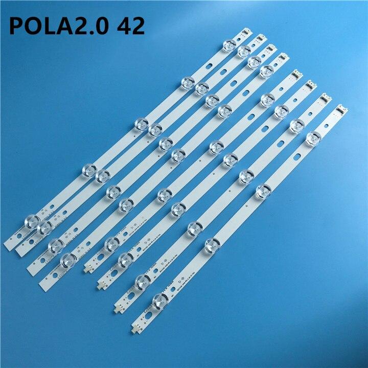 New 10 PCS/set LED Backlight Strip For LG 42 Inch TV 42LN5400 42LN5300 T420HVN05.2 Innotek POLA2.0 42
