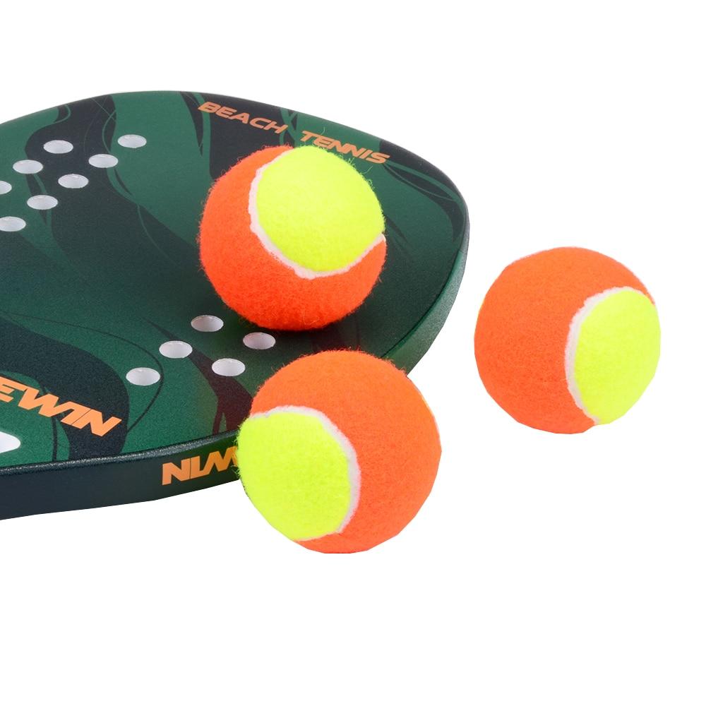 3 PCS Elasticity Beach Tennis Ball High Quality Training Sport Rubber Tennis Balls