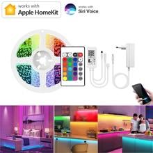 Homekit Smart Life 2.4G WiFi LED Strip light Remote Voice Dimmable Control Work With Apple Homekit/Alexa/Google Home Smart Lamp