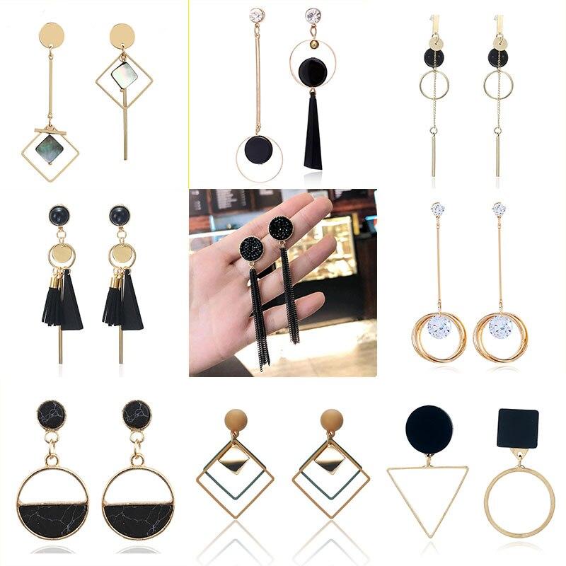 Korean Style Fashion Drop Earrings Simple Long Geometric Earrings Gift For Friend Tassel Ear Jewelry Wholesale Dropshipping