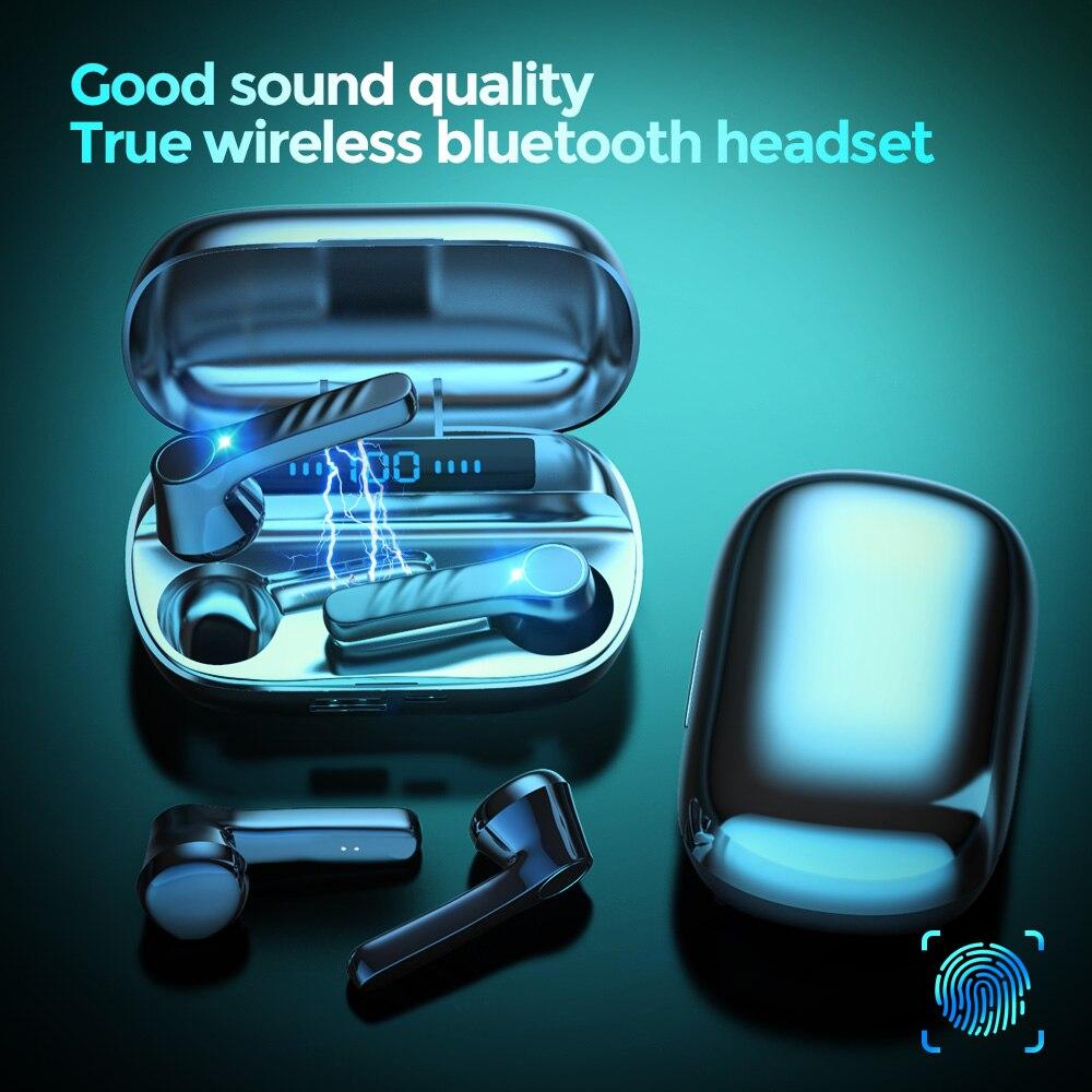 Беспроводные наушники tws Bluetooth 5,0, спортивные наушники-вкладыши, гарнитура для геймеров с микрозарядкой, стереонаушники 9D с басами, водонепр...