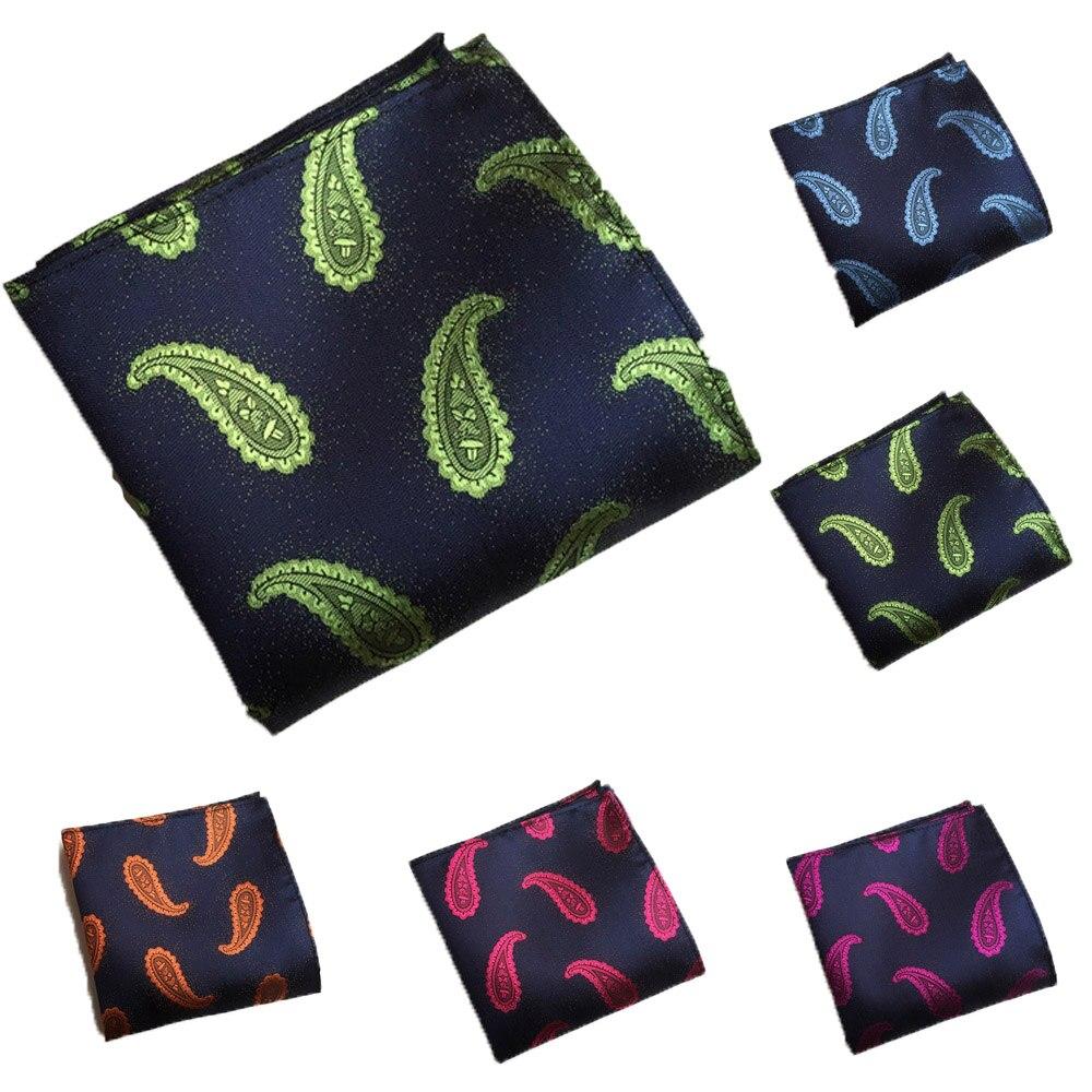 Mens Handkerchief Paisley Pattern Pocket Square Hanky Wedding Party Business