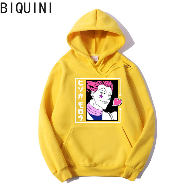 HUNTER X HUNTER HISOKA MOROW Hoodies 12 Color Hooded Tops UNISEX basic print Sweatshirt Long-sleeved  Plus Velvet  Streetwear 6
