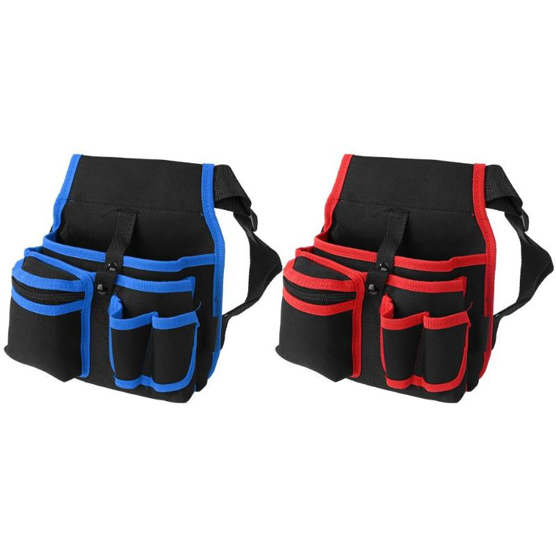 Multi-functional Tool Bag Hardware Electrician Hammers Screwdriver Repair Tool Pouch Storage Waist Pack With Adjustable Belt