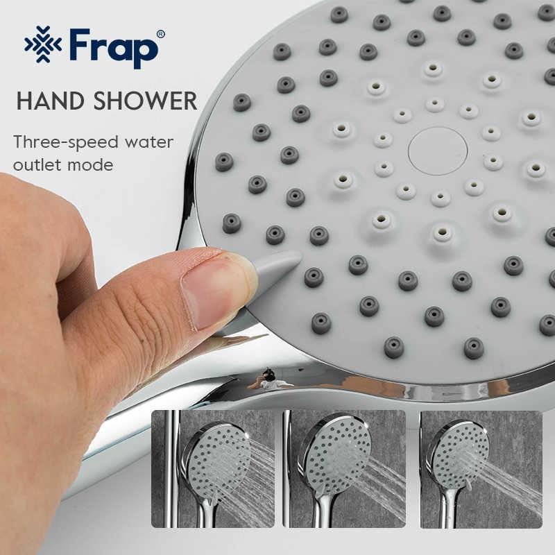 Frap Chrome Tắm Vòi Nước Bộ Bồn Tắm Phối Vòi Lượng Mưa Tắm Tập Phòng Tắm Tắm Tiếp Xúc Với Sữa Tắm Vòi Nước F2428