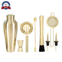 Wholesale personalized bar necessary stainless steel 8pcs bartender kit