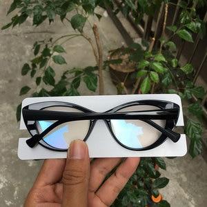 Image 5 - 최고 품질의 새로운 도착 대형 고양이 눈 디자이너 안경 프레임 여성 blogebrity 있어야합니다
