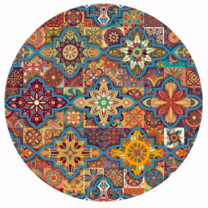 New Boho Floor Mat Round Rugs And Carpets Mandala Yoga Mat Cloakroom Retro Ethnic Non-slip Round Carpet For Living Room