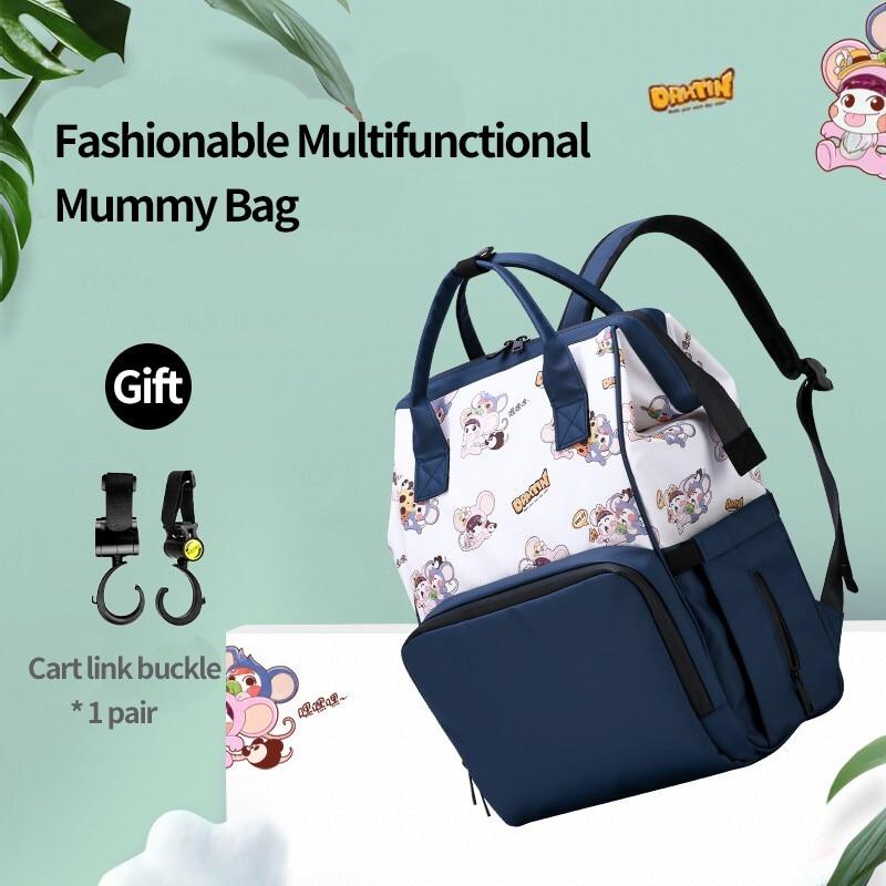 Umaubaby Fashion Mummy Maternity Nappy Bag Multifunction Large Capacity Baby Bag Travel Backpack  Nursing Bag for Baby Care