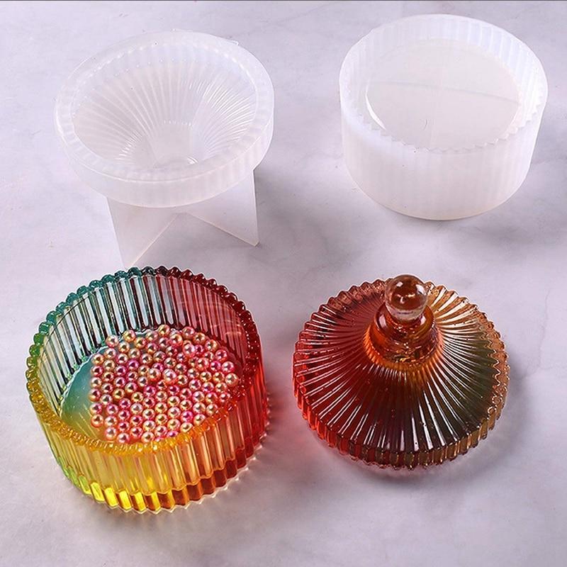 Резиновый брелок, коробка, формы, маленький размер, силиконовая коробка для ювелирных изделий, формы для эпоксидной смолы для хранения ювелирных изделий, подсвечник, держатель ручки