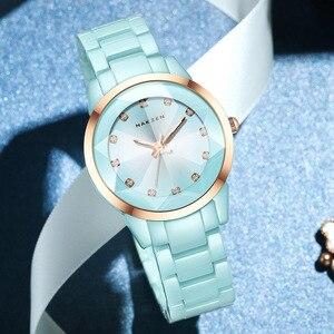 Image 1 - NAKZENの女性の腕時計の方法偶然の女性ブレスレットの多彩な陶磁器の腕時計の上のブランドの贅沢な服の女性の時計