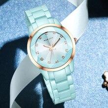 Nakzen 여성 시계 패션 캐쥬얼 숙녀 팔찌 다채로운 세라믹 시계 톱 브랜드 럭셔리 드레스 여성 시계
