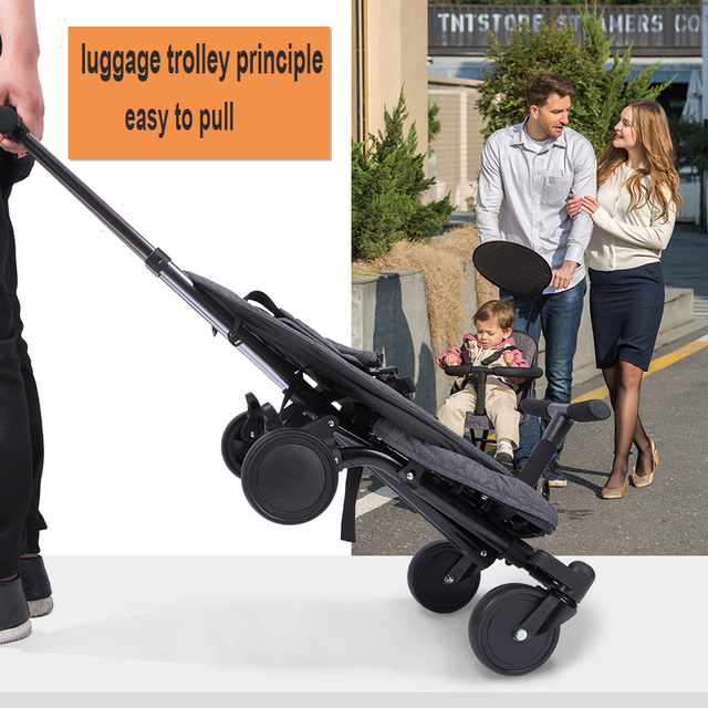 Portable Folding Baby Stroller Lightweight Cart Baby Four Wheels Stroller Kids Walker Car Learn To Walk Pram Shock Absorber