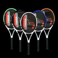Professional and technical carbon aluminum alloy tennis racket composite carbon tennis racket 45 50 LBS tennis racket tennis rac