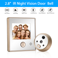 2.8 inch LCD Color Screen Digital Doorbell 120 Degree Door Eye Electronic Peephole Door Camera Viewer Motion Detected Door Bell