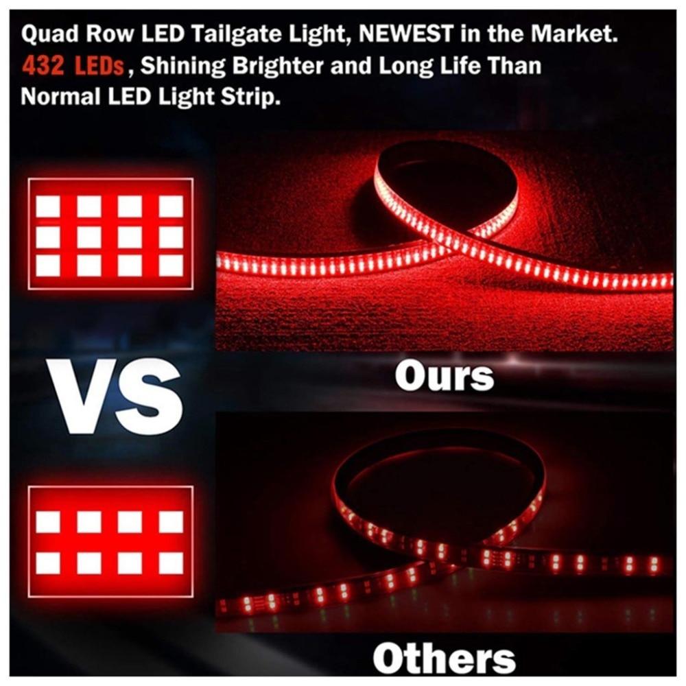 60 Inch Truck Tailgate LED Light 3528 LED Strip Bar Brake Reverse Turn Signal Stop Waterproof Tail Strip Lamparas 40NOV19 (5)