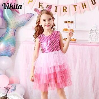 VIKITA Kids Tutu Dress for Girls Wedding Birthday Party Perform Dresses Toddlers Children Smash Elegant Sweet Princess Dress цена 2017