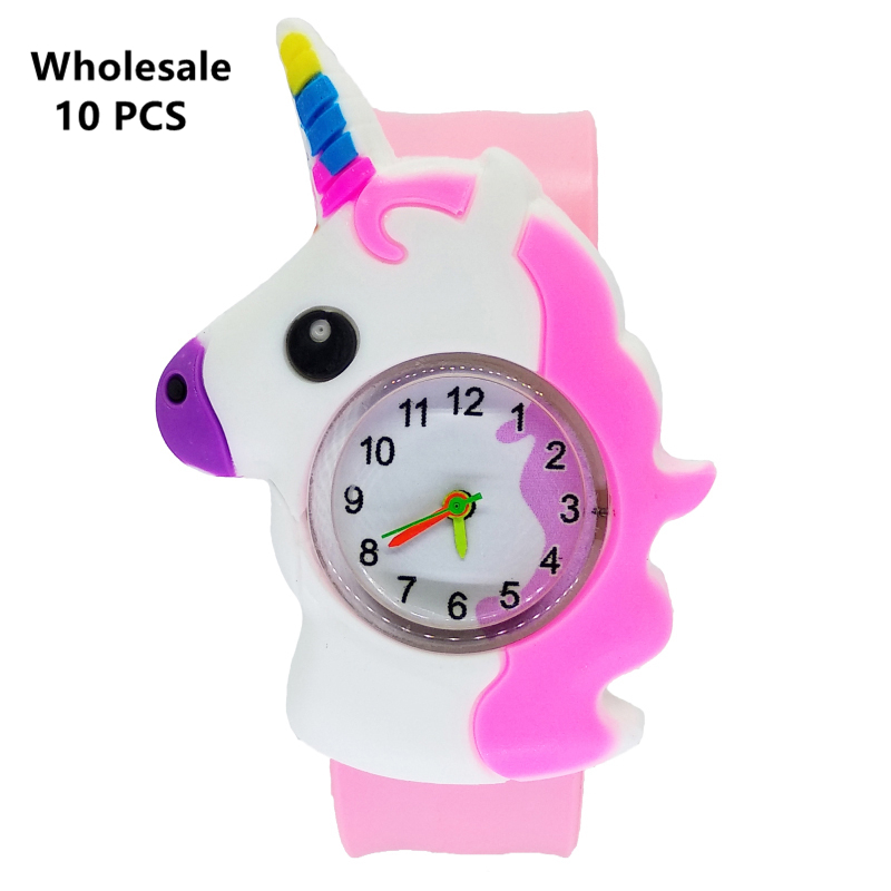 (Wholesale 10 Pcs) Baby Horse Toys Gift Children Watch Clock Kids Watches Electronic Toddler Boy Girl 1-9 Years Old Child Watch