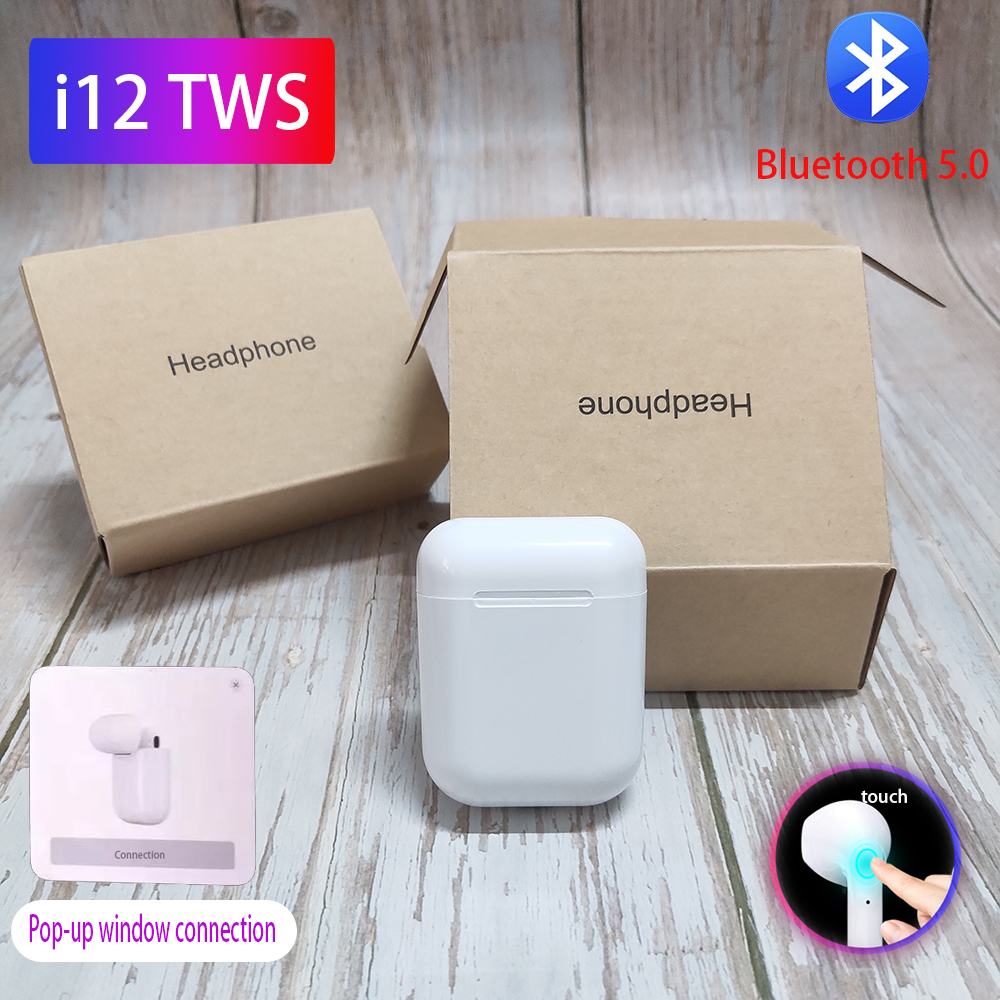 <font><b>i12</b></font> <font><b>Tws</b></font> <font><b>Bluetooth</b></font> Earphones i7s <font><b>5.0</b></font> Wireless Headphones Stereo <font><b>earbuds</b></font> headset With mic PK w1 chip i11 <font><b>tws</b></font> i60 i80 lk te9 image