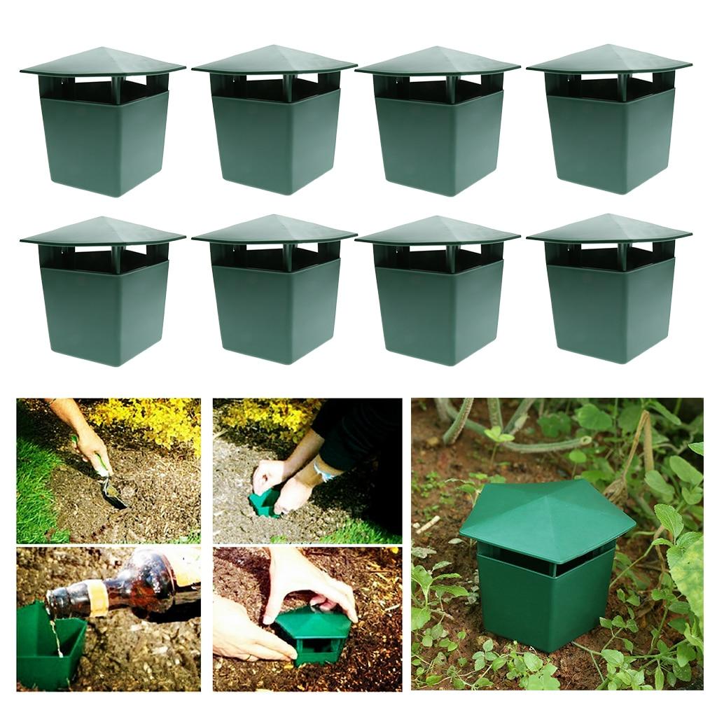 8 unidades de trampas de Beer Slug y Snail respetuosas con el medio ambiente para atrapar Slugs Snails Catcher, seguro para niños y mascotas