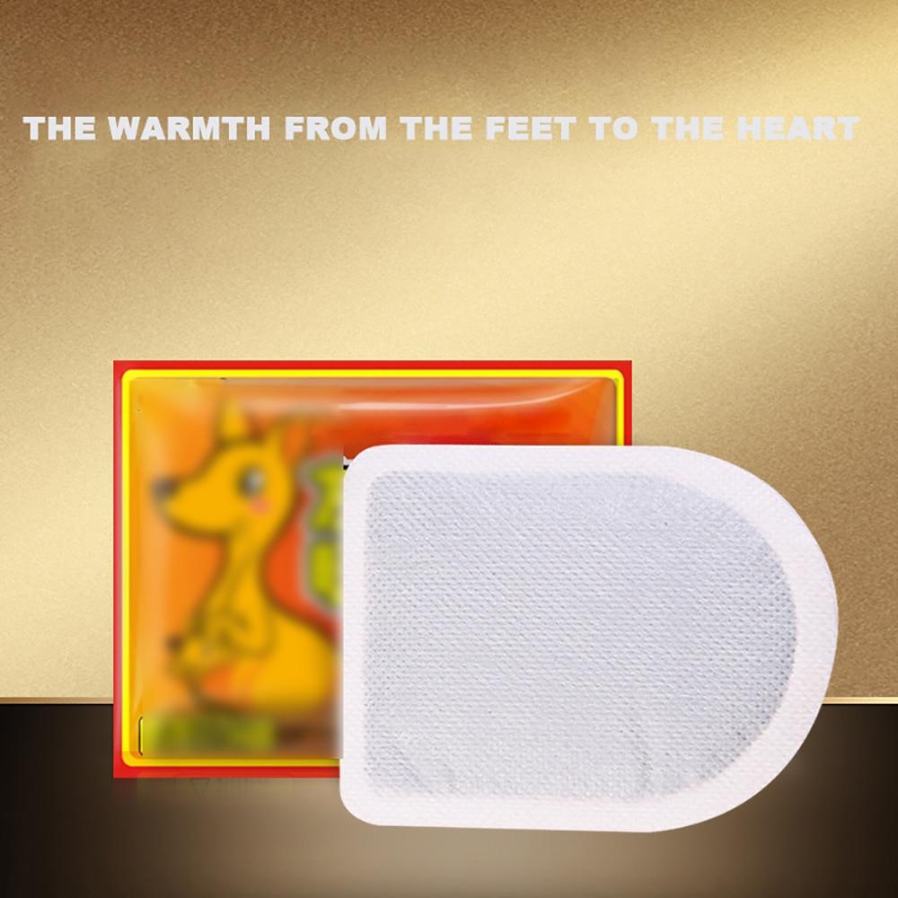 10Pcs Body Warmer Stick Lasting Heat Patch Keep Hand Feet Foot Warm Paste Pads
