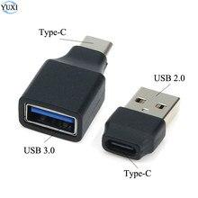 YuXi USB 2.0 3.0 type-c OTG câble adaptateur Type C USB-C OTG convertisseur pour Samsung souris clavier USB disque Flash pour Huawei Xiaomi