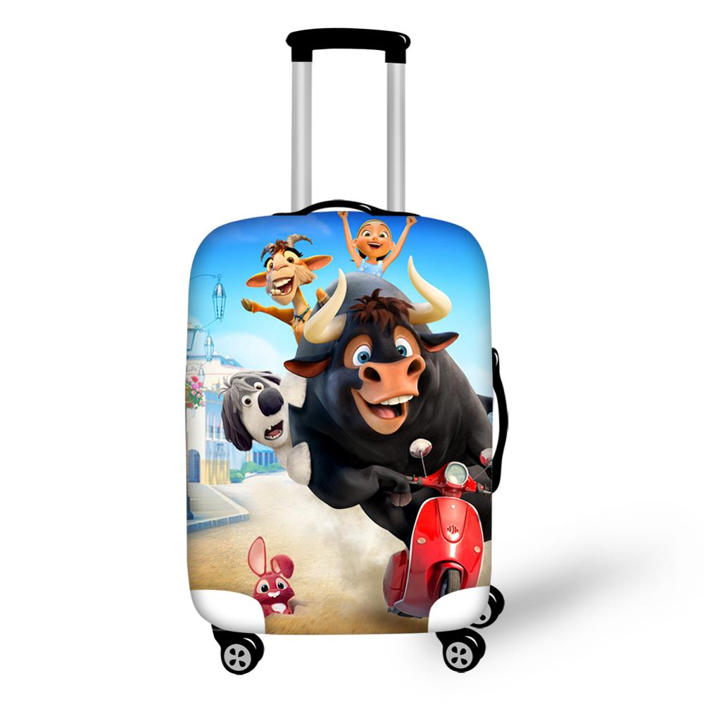 HaoYun Travel Luggage Cover Ferdinand Pattern Suitcase Cover Cartoon Anime Designer Elastic Dust-proof &Water-proof Protector