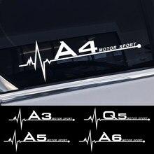 Autocollants latéraux pour vitres de voiture, pour Audi A4 B5 B7 B8 B9 A3 8P 8V 8L A5 A6 C6 C5 C7 4F A1 A7 A8 Q2 Q3 Q5 Q7 RS3 RS4 RS5 RS6 TT
