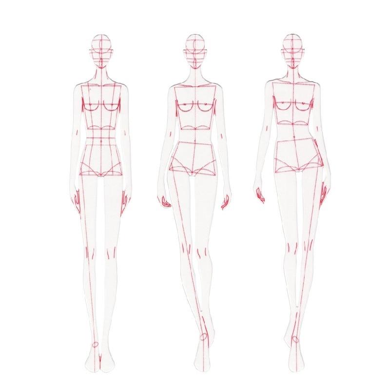 Искусственный модный трафарет для создания рисунков линейки