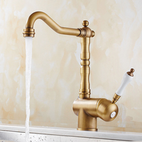 Traditional high end waterfall kitchen faucet, mixing faucet, swivel faucet, chrome faucet, home improvement accessories