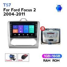 Autoradio Android, écran IPS hd 1280x720, Navigation GPS, WIFI, BT, lecteur multimédia vidéo, 2 din, dvd, pour voiture ford focus 2 Mk2 (2004 – 2011)