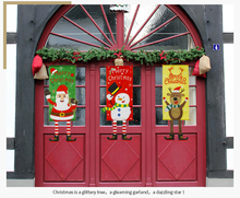 New Christmas Decorations For Home Door Decor Hanging Ornaments Window Cloth Gifts Year Products