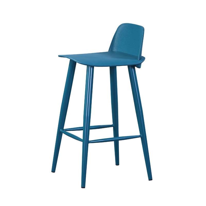 H1 Nordic Bar Chair Modern Contracted Stool Chair Back Of A Chair High Chairs Home Bar Stool Chair Formal Dinning Chairs Cheap
