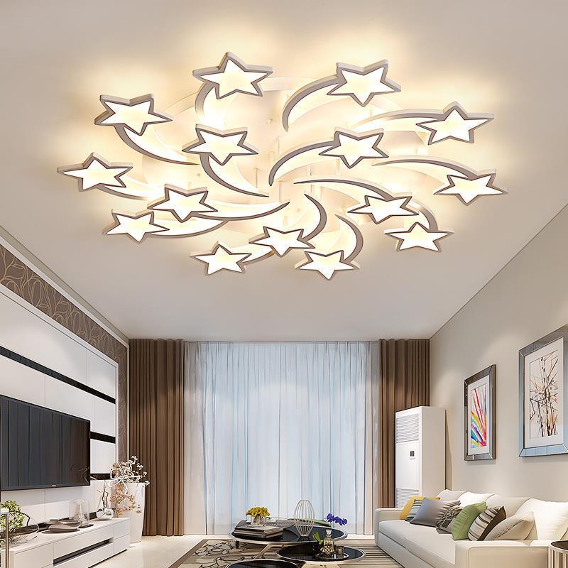 Modern LED Chandelier Stars Ceiling Lights For Living Room Bedroom Dinning Room Lamp Lighting Home Hotel Ceiling Chandeliers D59