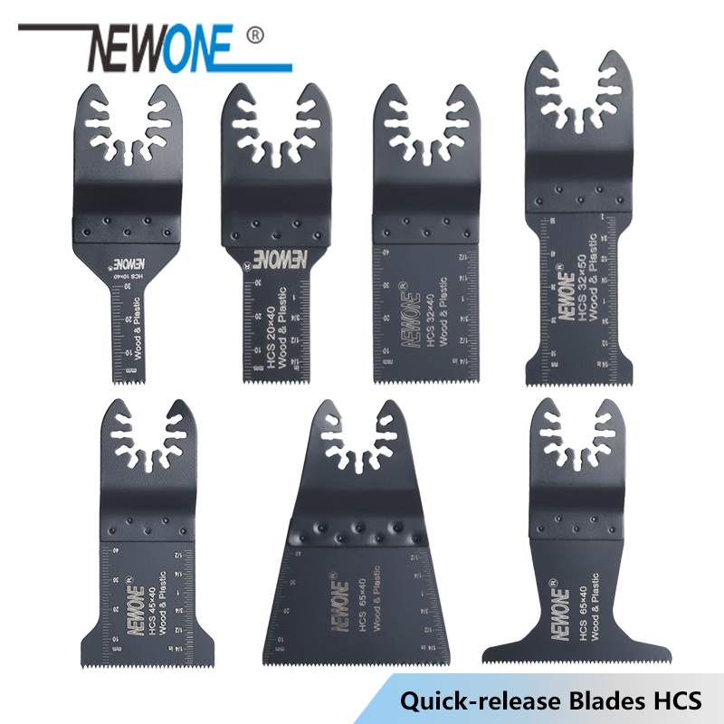 NEWONE Quick Release Quick ChangeHCS 10/20/32/45/65mm Oscillating Tool Renovator Multimaster Tool Saw Blade Power Tool Accessory
