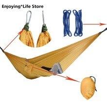 Outdoor Hammock Double Camping Hammock Idyllic Swing Portable Travel Hanging Swing Hammock 270x140cm