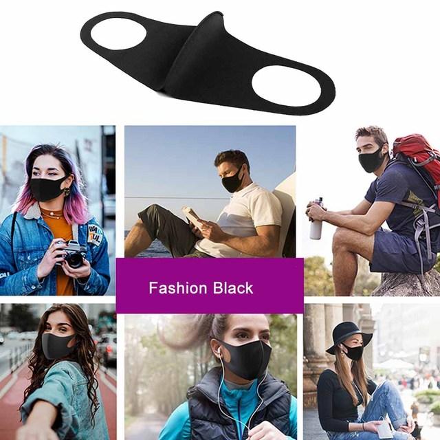 1 Pcs Popular Fashion Face Mouth Mask Anti Dust Mask Filter  Bacteria Proof Flu Face Masks Care Reusable Washable 5