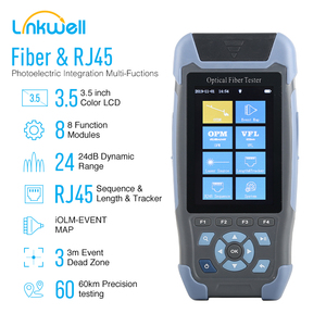 MINI OTDR Fiber Optic Reflectometer with 9 Functions VFL OLS OPM Event Map 24dB for 64km Cable Ethernet Fiber Cable Tester otdr