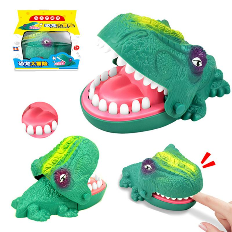 New Bite Hand Dinosaur Parent-Child Interactive Toy Soft Dinosaur Hand Crazy Biting Hand Finger Toys Funny Party Game For Family