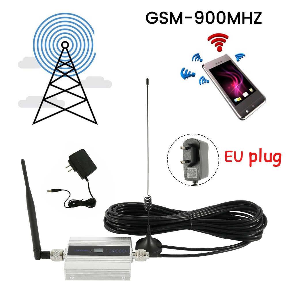 Uni Eropa Plug Kecil Paduan LCD GSM 900 MHz Ponsel Penguat Signal Amplifier Seluler Repeater Penguat Sinyal