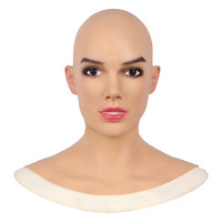 Realistic Silicone Mask Human Skin Women Face Halloween Crossdresser Cosplay Masruerade Fool's Day Spoof Tricky Props