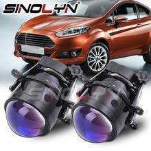 Sinolyn 3 Inch Bi Xenon Projector Fog Lens For Ford FOCUS 2 3 /Ecosport/MK2/FIESTA MK7/ FUSION/TRANSIT Blue Lens Retrofit Tuning