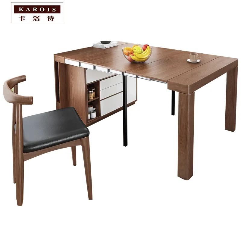 meuble de salle a manger multifonctionnel telescopique pliant combinaison table a manger et chaise simple petit buffet d appartement