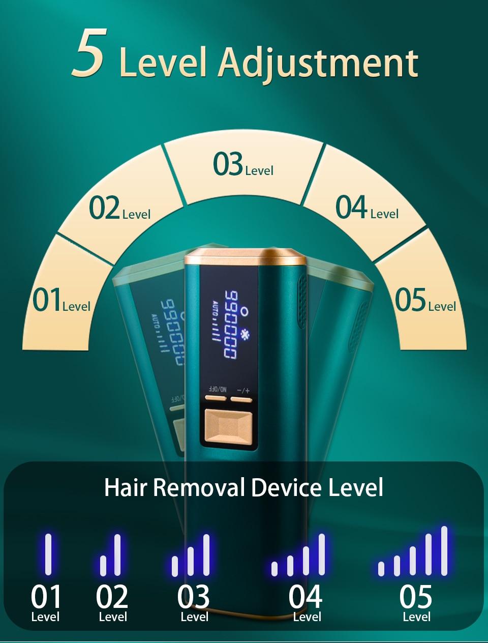 Safira laser depilador ipl dispositivo de remoção
