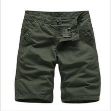 Мужские шорты Лето Горячая Распродажа хлопок плюс размер свободные по колено мужские шорты верхняя одежда модные повседневные однотонные шорты средней талии