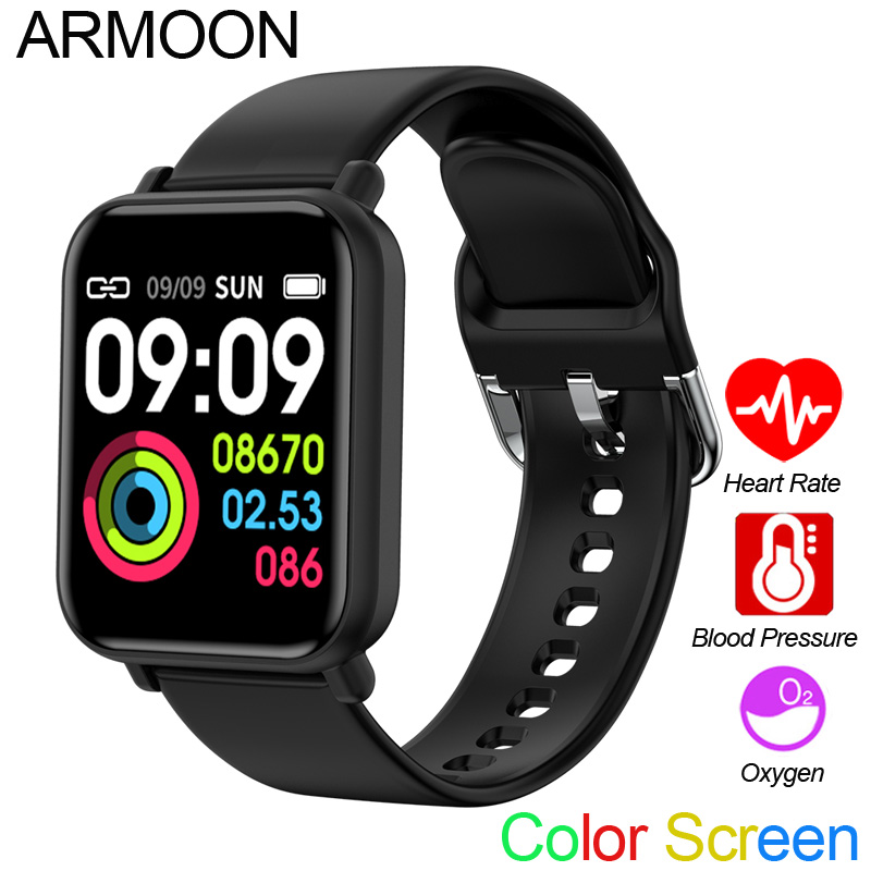 Smart Sport Watch R16 Android Ios Heart Rate Blood Pressure Oxy