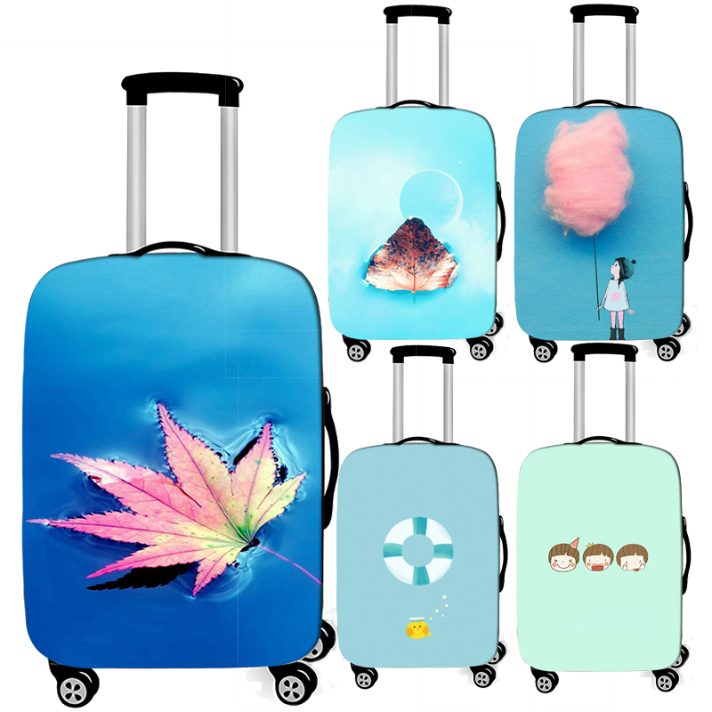 Small Fresh Solid Color Cute  Luggage Protective Cover For Travelling Elastic Suitcase Cover Anti-dust Travel Trolley Case Cove