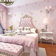 Beibehang papel de pared para sala de estar, papel tapiz no tejido 3D, fondo de TV de papel de pared del dormitorio, diente de león rural cálido